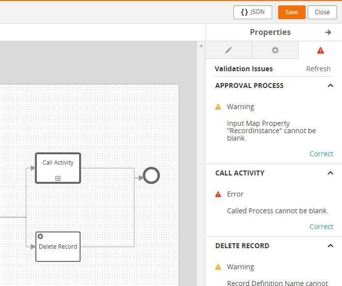 Error Process Tool BMC Innovation Studio