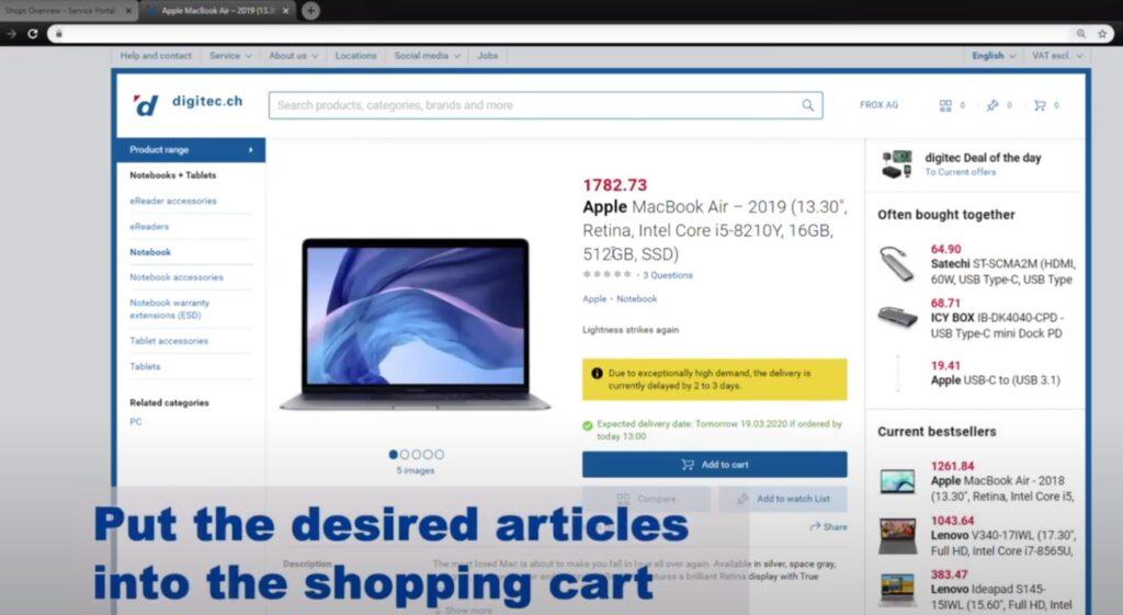 ServiceNow App External Shop Integration Shopping