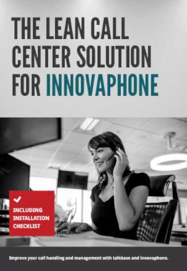 talkbase e-book The lean call center solution for innovaphone FROX AG